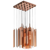 Sonneman Chimes 3 Light Pendant in Polished Bronze 4645.02