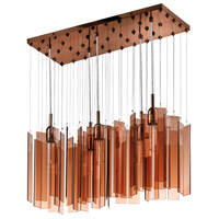 Sonneman Chimes 5 Light Pendant in Polished Bronze 4646.02