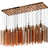 Sonneman Chimes 7 Light Pendant in Polished Bronze 4647.02