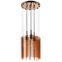 Sonneman Chimes 3 Light Pendant in Polished Bronze 4652.02