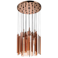 Sonneman Chimes 5 Light Pendant in Polished Bronze 4653.02