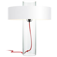 Sonneman 4755.87W Level 24 inch 60 watt Clear Glass Table Lamp Portable Light in Clear Opaque Paper