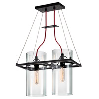 Sonneman Square Ring 2 Light Pendant in Satin Black 4762.25