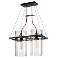 Sonneman 4762.25 Square Ring 2 Light 17 inch Satin Black Pendant Ceiling Light