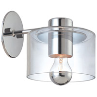 Sonneman Transparence 1 Light Sconce in Polished Chrome 4801.01