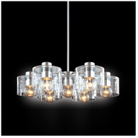 Transparence 7 Light 28 inch Polished Chrome Pendant Ceiling Light