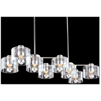 Transparence 8 Light 17 inch Polished Chrome Pendant Ceiling Light