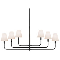 Sonneman Tempo 6 Light Pendant in Rubbed Bronze 4856.24