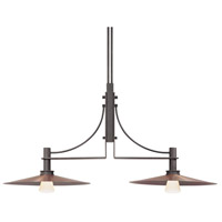 Sonneman Bridge 2 Light Pendant in Textured Rustic Bronze 4902.36