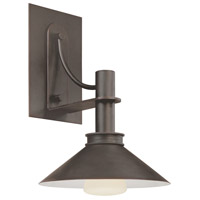 Sonneman Bridge 1 Light Sconce in Textured Rustic Bronze 4903.31