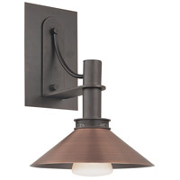 Sonneman Bridge 1 Light Sconce in Textured Rustic Bronze 4903.36