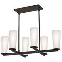 Sonneman High Line 6 Light Pendant in Black Bronze 4926.32