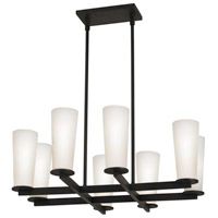 High Line 8 Light 27 inch Black Bronze Pendant Ceiling Light
