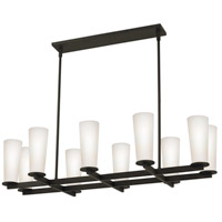 High Line 10 Light 39 inch Black Bronze Pendant Ceiling Light