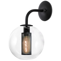 Sonneman Tribeca 1 Light Sconce in Textured Black 4930.97