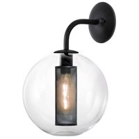 Sonneman Tribeca 1 Light Sconce in Textured Black 4931.97