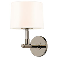 Soho 1 Light 8 inch Polished Nickel Sconce Wall Light in White Linen