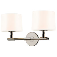 Soho 2 Light 20 inch Polished Nickel Sconce Wall Light in White Linen