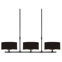 Sonneman Soho 6 Light Bar Pendant in Satin Black 4953.25