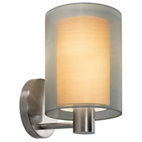 Puri 1 Light 6 inch Satin Nickel Sconce Wall Light in Silver Organza