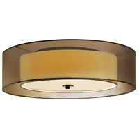 Puri 3 Light 16 inch Black Brass Surface Mount Ceiling Light in Bronze Organza, GU24