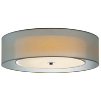 Puri 3 Light 22 inch Satin Nickel Surface Mount Ceiling Light in Silver Organza, Medium