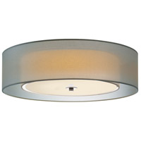 Puri 3 Light 22 inch Satin Nickel Surface Mount Ceiling Light in Silver Organza, GU24