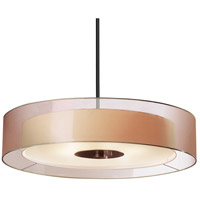 Puri 6 Light 30 inch Black Brass Pendant Ceiling Light in Bronze Organza
