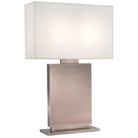 Sonneman Plinth 2 Light Table Lamp in Black Nickel 6045.50