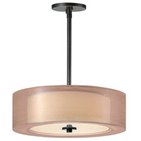 Sonneman Puri Plus 3 Light Pendant in Black Brass 6091.51BZ