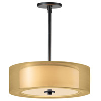 Sonneman Puri Plus 3 Light Pendant in Black Brass 6091.51GO