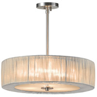 Sonneman Organza Wrap 3 Light Pendant in Satin Nickel 6097.13SI