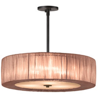 Organza Wrap 3 Light 22 inch Black Brass Pendant Ceiling Light