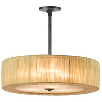 Sonneman Organza Wrap 3 Light Pendant in Black Brass 6097.51GO