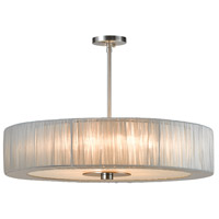 Sonneman Organza Wrap 6 Light Pendant in Satin Nickel 6098.13SI