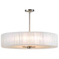 Sonneman Organza 6 Light Pendant in Satin Nickel 6098.13WH