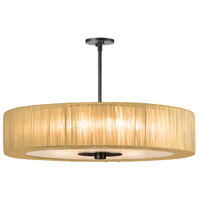 Sonneman Organza Wrap 6 Light Pendant in Black Brass 6098.51GO