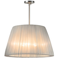 Sonneman Organza Wrap 3 Light Pendant in Satin Nickel 6099.13SI