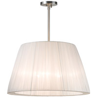 Organza 3 Light 24 inch Satin Nickel Pendant Ceiling Light
