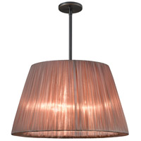 Sonneman Organza Wrap 3 Light Pendant in Black Brass 6099.51BZ