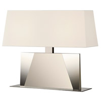 Sonneman Facet 2 Light Banquette Table Lamp in Polished Nickel 6104.35