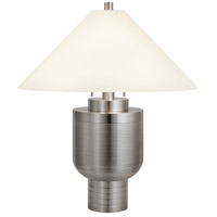 Urn Moderne 31 inch 75 watt Satin Nickel Table Lamp Portable Light