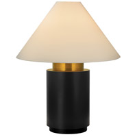 Sonneman Tondo 4 Light Table Lamp in Natural Brass and Black 6124.43