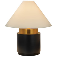 Sonneman Lighting Tondo 4 Light Table Lamp in Natural Brass & Black 6127.43