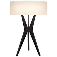 Sonneman Bel Air 2 Light Table Lamp in Satin Black 6150.25
