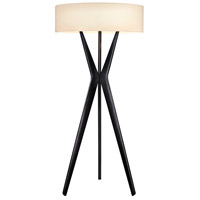 Sonneman Bel Air 3 Light Floor Lamp in Satin Black 6152.25