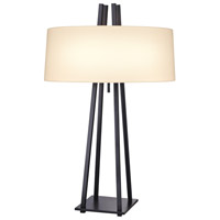 West 12th 32 inch 100 watt Anthracite Table Lamp Portable Light
