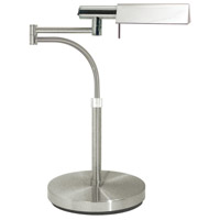 Sonneman E-Tenda 1 Light Table Lamp in Satin Nickel 7014.13