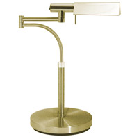 Sonneman E-Tenda 1 Light Table Lamp in Satin Brass 7014.38