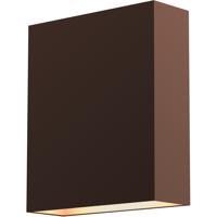 Sonneman 7105.72-WL Flat Box LED 7 inch Textured Bronze Indoor-Outdoor Sconce